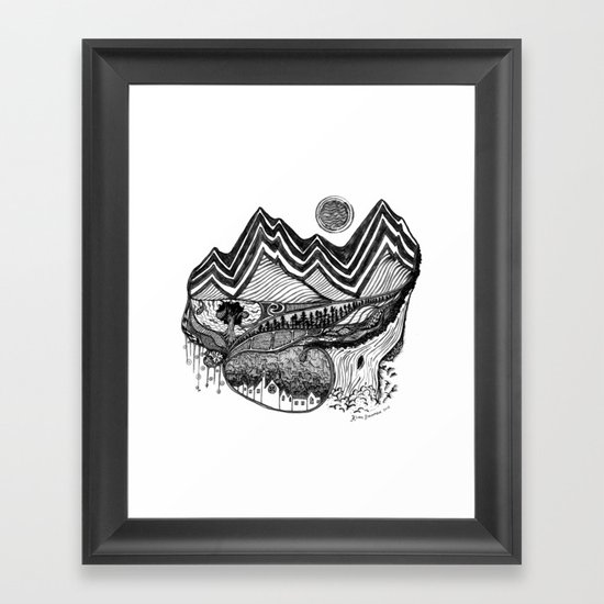 The Places You Will Find Me Hiding Framed Art Print