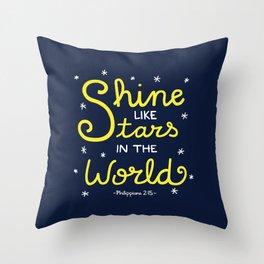 Shine Like Stars Throw Pillow