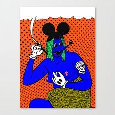 SMOKE.   (Mouseketeer).  (On Orange). Canvas Print