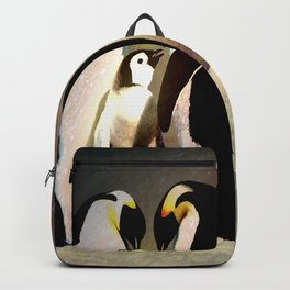 Space Penguins of Love Backpack