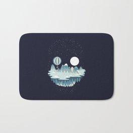 Winter skull Bath Mat