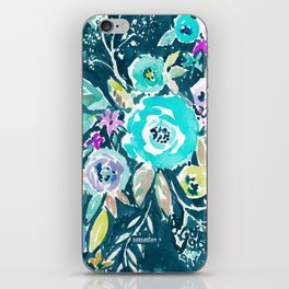 BEAUTY AND THE BADASS FLORAL iPhone Skin