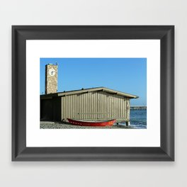 San Clemente Life Guard Tower Framed Art Print