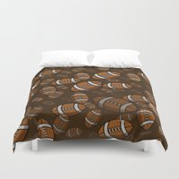 rugby Duvet Covers featuring Rugby by joanfriends