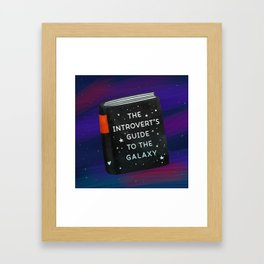 The Introvert's Guide To The Galaxy Framed Art Print