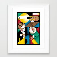 jazz Framed Art Prints featuring Jazz by Szoki