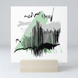 Green mess Mini Art Print