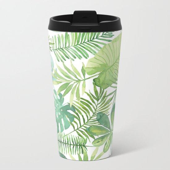 Tropical Branches Pattern 07 Metal Travel Mug