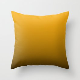 Pale Pumpkin Orange and Black Deadly Ombre Nightshade Throw Pillow