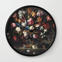 Arellano, Juan De -  Flowers Wall Clock