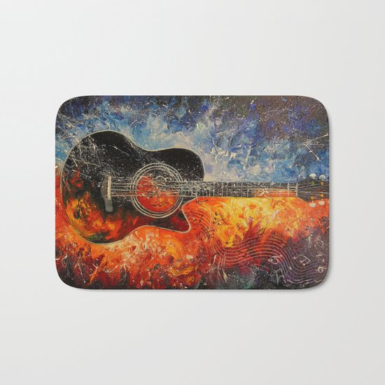 The rhythms of the guitar Bath Mat