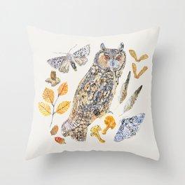 Autumn Wildlife - Neutral Throw Pillow