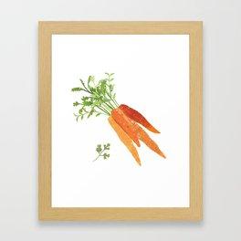 Carrot Illustration Framed Art Print