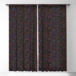 Drag Word Association Pattern Blackout Curtain