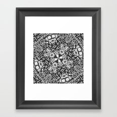 Black and White Doodle Framed Art Print