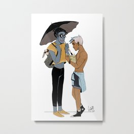 LN summer: Elia and Seb Metal Print