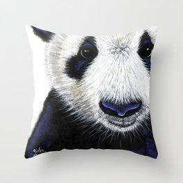 Panda Bear ' PANDA ' by Shirley MacArthur Throw Pillow