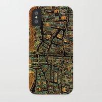 paris map iPhone & iPod Cases featuring Paris Map by Larsson Stevensem