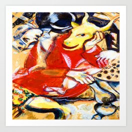 Marc Chagall To My Betrothed Art Print