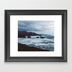 cannon beach overlook Framed Art Print