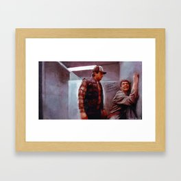 Seabass And Manly Love - Dumb And Dumber Framed Art Print
