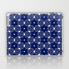 Shibori Stars (white and dark blue) Laptop & iPad Skin