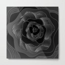 Big Black Rose Metal Print