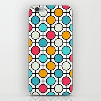 polka dots iPhone & iPod Skins featuring Polka Dots by Dizzy Moments