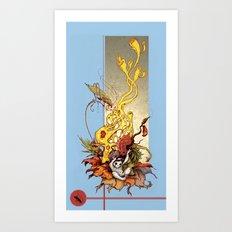 Katydid Driddle Art Print