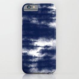 Blue Shibori Dye  iPhone Case