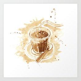 Tubruk Coffee Art Print