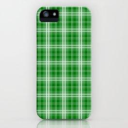 Christmas Green Tartan Plaid Check iPhone Case