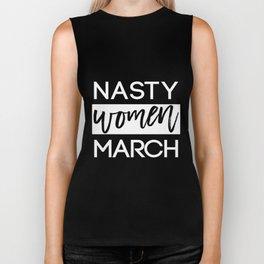 Nasty women March black & white, Women's marches, Anti Trump protests Biker Tank