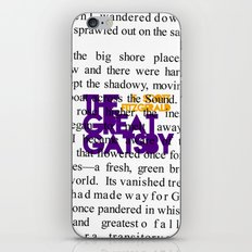 The Great Gatsby - F. Scott Fitzgerald / Book Cover Art Poster  iPhone & iPod Skin