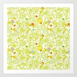 Bugs - Light Green  Art Print