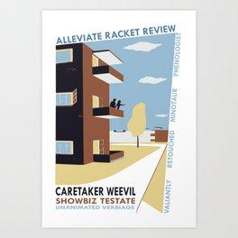 Alleviate Racket Review Art Print