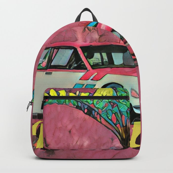 Racing sport car Backpack