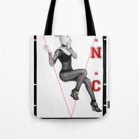 iggy azalea Tote Bags featuring The New Classic - Iggy Azalea by infinitelydan