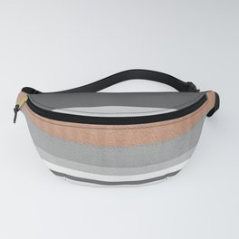 Peach & Cement Structure & Warmth Color Therapy Texture Meditation Lines Fanny Pack