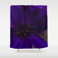 indigo Shower Curtains featuring Indigo by Marly