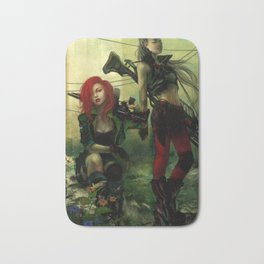 Hot pepper - Sci-fi soldier girls with weapons Bath Mat