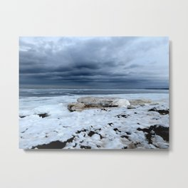 Frosted Shore Metal Print
