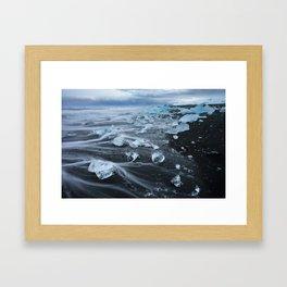 Jokulsarlon Beach - Iceland Print (RR255) Framed Art Print