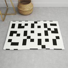 Black & White Square Grid Rug