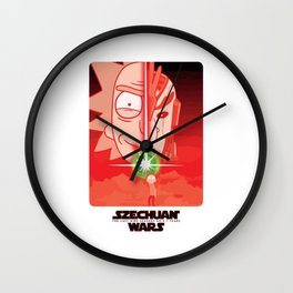 Rick & Morty - SZECHUAN WARS T-Shirt Wall Clock