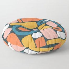 rainbow shape collage Floor Pillow