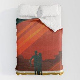 THE MOONS OF MARS - Phobos & Deimos | Space | X | Retro | Vintage | Futurism | Sci-Fi | Two Comforters
