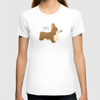 corgi T-shirts featuring Corgi by 52 Dogs