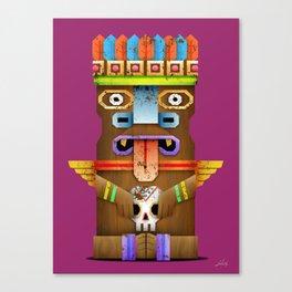 Tiki Statuette Canvas Print