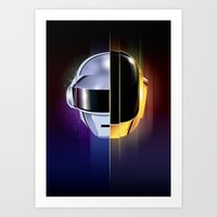 daft punk Art Prints featuring Daft Punk by Alevan